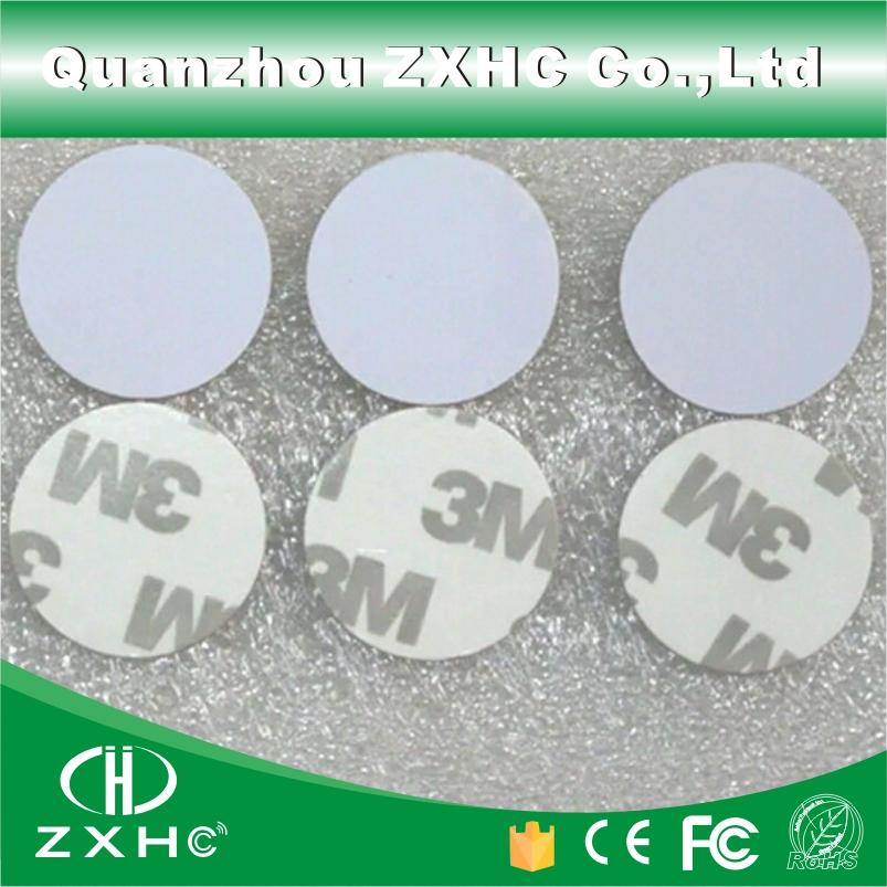 (10pcs/lot) Round Shape 25mm 13.56Mhz RFID 3M IC Tag S50 NFC Sticker Fudan08 Coin Card(China (Mainland))