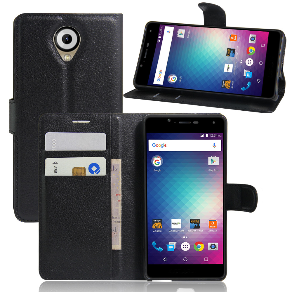 Original PU Leather Wallet Case for Blu R1 HD Phone Bag Cover with Stand Function and Visa Card Slot(China (Mainland))