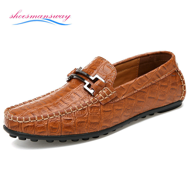 2014 Real Leather Fashion Casual Driving Shoes Moccasin Men Loafer Mens Shoes Size 38 44 (Blue ...