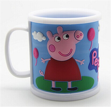 300ml Children Mug Pig Mug Water Cup Learn to Drink Cup Free Shipping 1 Piece(China (Mainland))