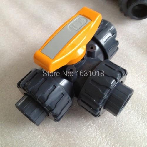 1'' dn25 upvc plastic ball valve 3 way pvc pn10kg manually L port T swimming pool - Sunday Online Shop store