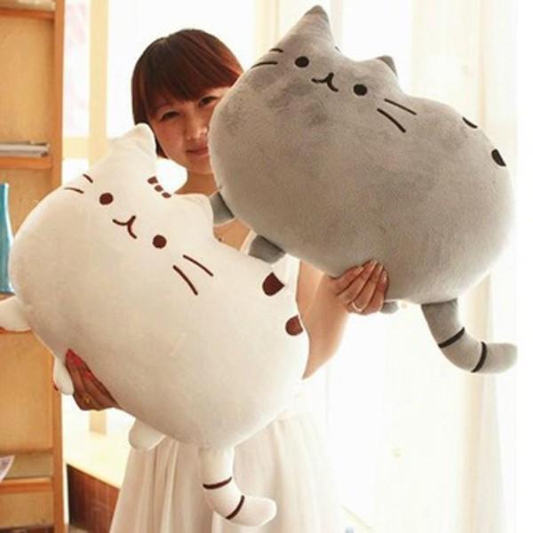 Kawaii Kids Toys Stuffed Animal Doll Peluches Anime Plush Toys Pusheen Cat Pillow For Girl Kid Cute Cushion Brinquedos 40*30(China (Mainland))