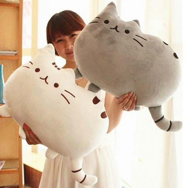 Kawaii Kids Toys Stuffed Animal Doll Peluches Anime Plush Toys Pusheen Cat Pillow For Girl Kid Cute Cushion Brinquedos 40*30(China (Mainland))