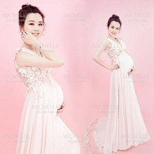 Chiffon Maternity Dresses Pregnant Photography Props Fancy Pregnancy maternity photo shoot Maternity Clothes For Pregnant Women