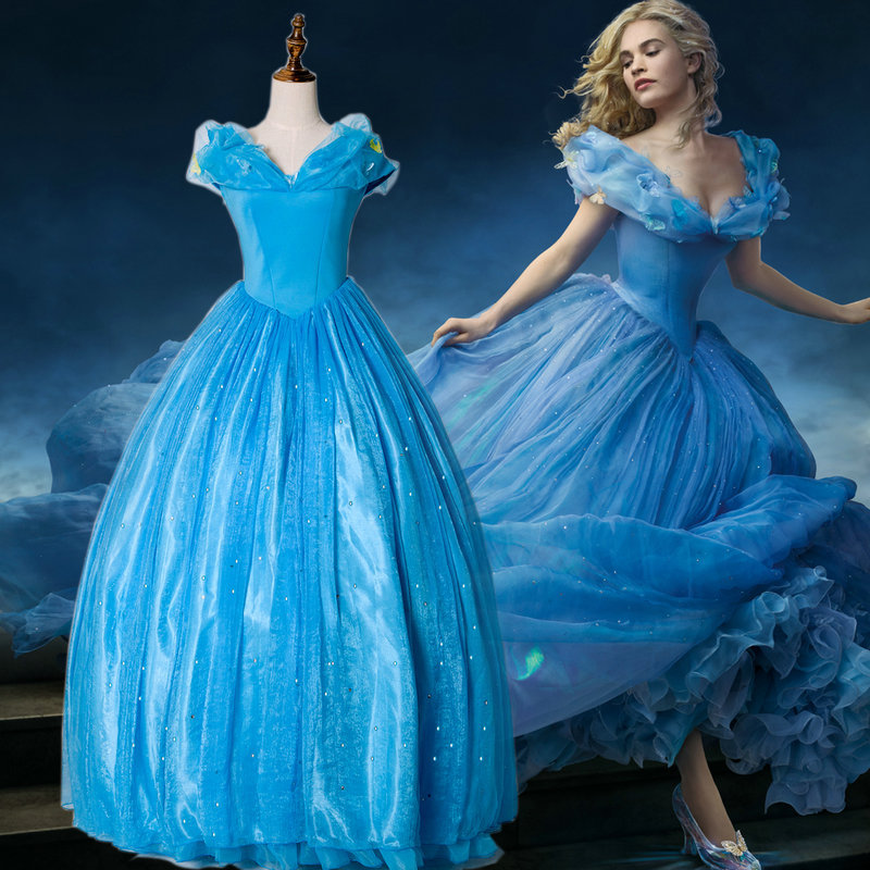 Lily James Cinderella Dresses Dress Cosplay Lily James