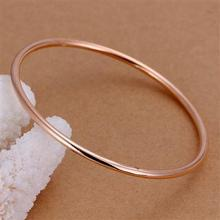 High Quality 18K Rose Gold Plated Copper Fashion Gold Fashion Bangles Jewelry B137