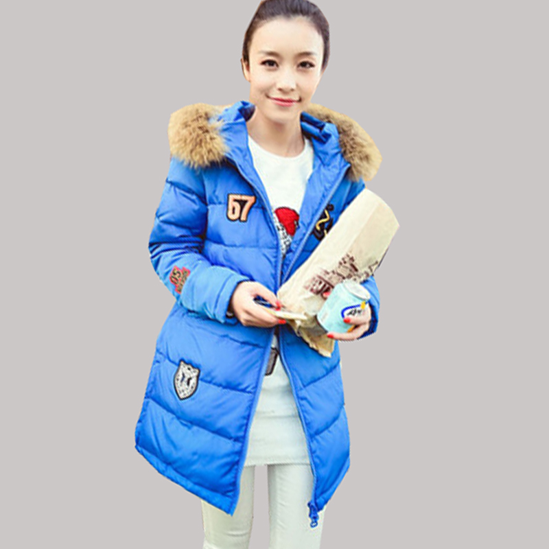 2015 wholesale new down jacket women long section Nagymaros collar thickening Slim L0038