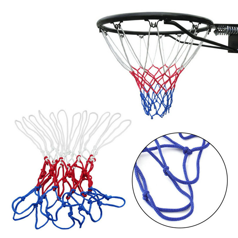 Red Basketball backboard Hoop White Blue Basketball Net Nylon Hoop Goal Rim Mesh Net Sports(China (Mainland))