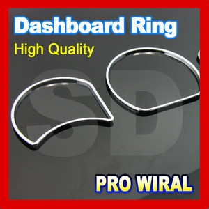 for Proton Wira Chrome Cluster Rings chrome Gauge Rings Dashboard Rings ABS