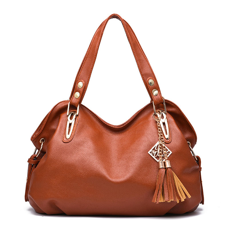 2016 Fashion Luxury Handbags Women Large Capacity Casual Shoulder Bag Ladies Pu Leather Office Brown Tote Bags Bolsos Feminina(China (Mainland))