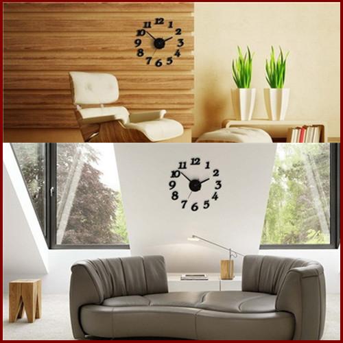 Modern Home Decoration Colck DIY Clock Large Wall 3D Sticker Foam Big Watches - Yuanhang store