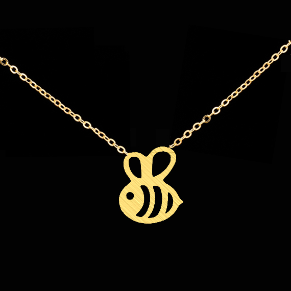 Cheap Fashion Jewelry BFF Gold Body Chain Silver Teeny Tiny Honey Bee Charm Statement Necklaces For Women 2016 Bridesmaid Gift(China (Mainland))