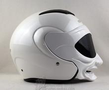 Free Shipping Genuine white gas Marushin helmet motorcycle helmet / samurai helmet half face double lens marushinC609(China (Mainland))