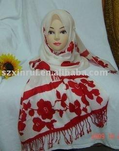 Islamic satin hijab,oblong satin hijab ms070612