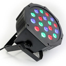 Hot 2015!18*3W Led Stage Light High Power RGB Par Light With DMX512 Master Slave Led Flat DJ Equipments Controller,Free shipping(China (Mainland))