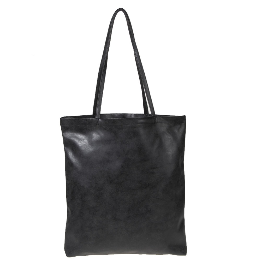 Women Leather Shoulder Bags Shopping Bag Famous Designer Black Bags Medium Size Handbag Travel Shopping Tote Handbag(China (Mainland))