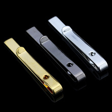 Fine Jewelry Men's Accessories Formal Classy Simple 3 Colors Tie Bar Clasp Clip Pin Men Rhinestone Business Small Ties Clips(China (Mainland))