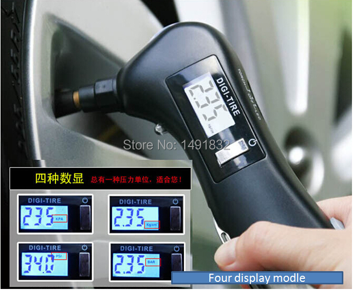 Vehicle Installed Digital Measuring Instruments : New car tire pressure gauge sheet precision digital
