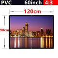 whole sale 60 Inch 4 3 PVC Fabric Matte With 1 1 Gain projection screen Wall