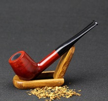 15 Tools Set Red Sandal Wood Smoking Pipe 9mm Filter Wood Pipe Straight Tobacco Pipe SP-519-2