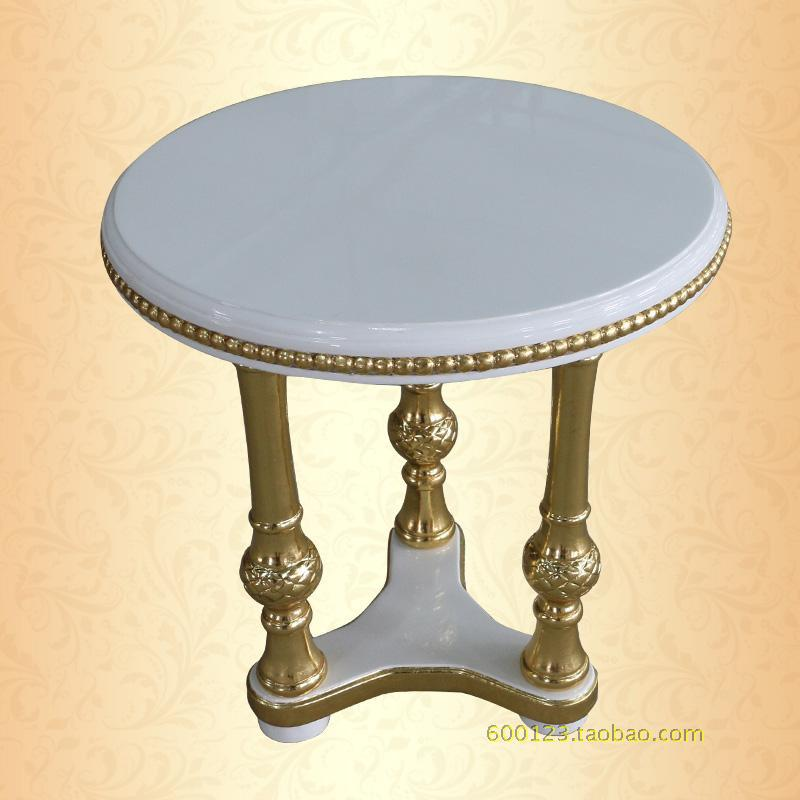 European Style Glass Coffee Table Round Coffee Table A Few Small High End Sofa Several Golden