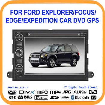 "7"" Car DVD GPS For Ford Fusion Explorer F150 Edge Expedition With Car RadioGPS Navigator,BT,Free 4GB Map Free shipping(AC1377)"