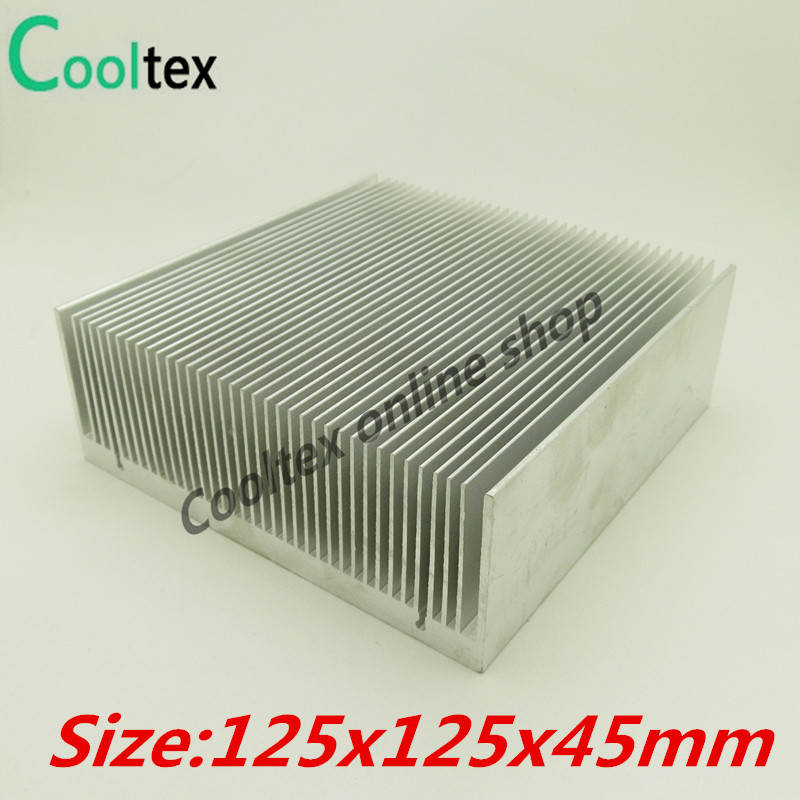 High power 125x125x45mm Aluminum HeatSink Heat Sink radiator for electronic Chip LED  COOLER cooling Recommended