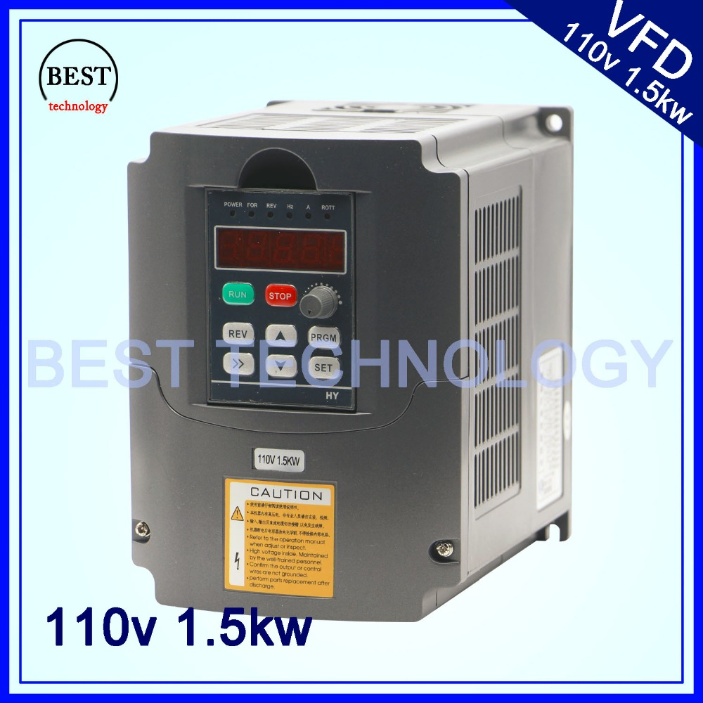 1.5kw Variable Frequency Drive VFD Inverter Input 2HP 110V Output 3HP 110V New Product! High Quality!<br><br>Aliexpress