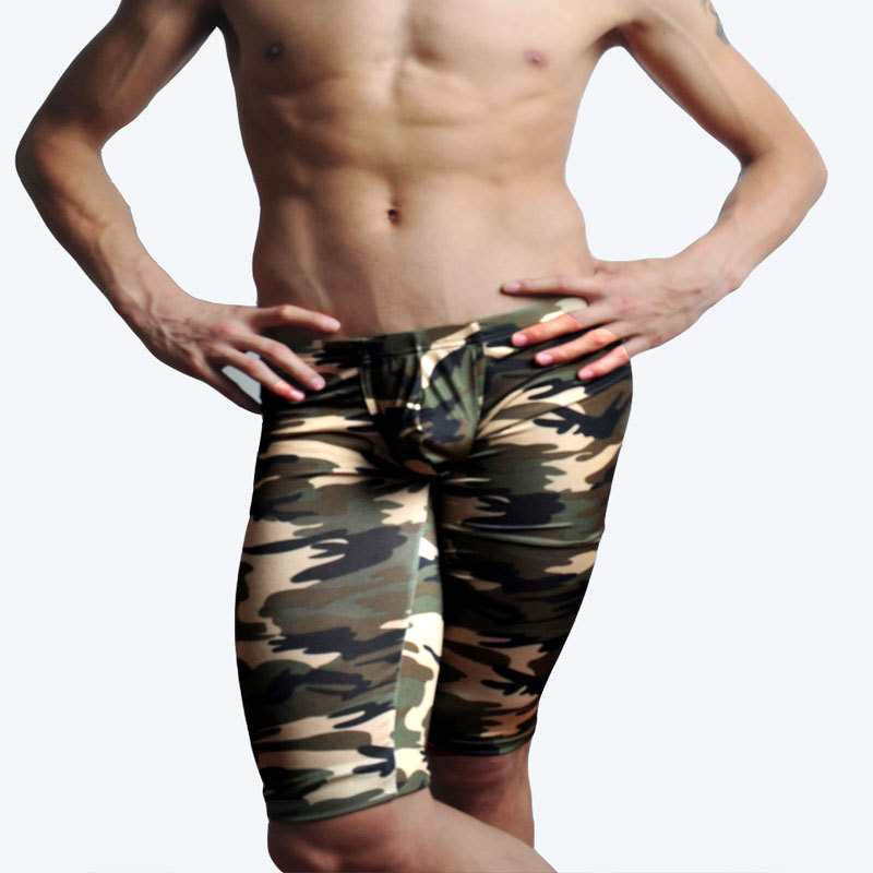 pants fashion Sexy Camouflage pattern Male Sport Middle Pants Classical Elastic Waist Design camouflage trousers 2pcs/lot M02-2(China (Mainland))