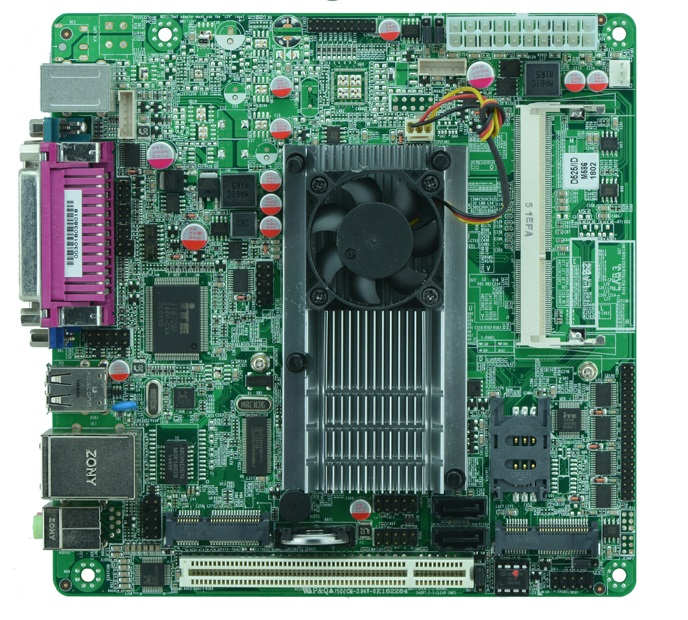 Intel Atom D525 mainboard, x86 mini itx atom motherboard D525 /6*COM/ 2*SATA2 / MSATA(China (Mainland))