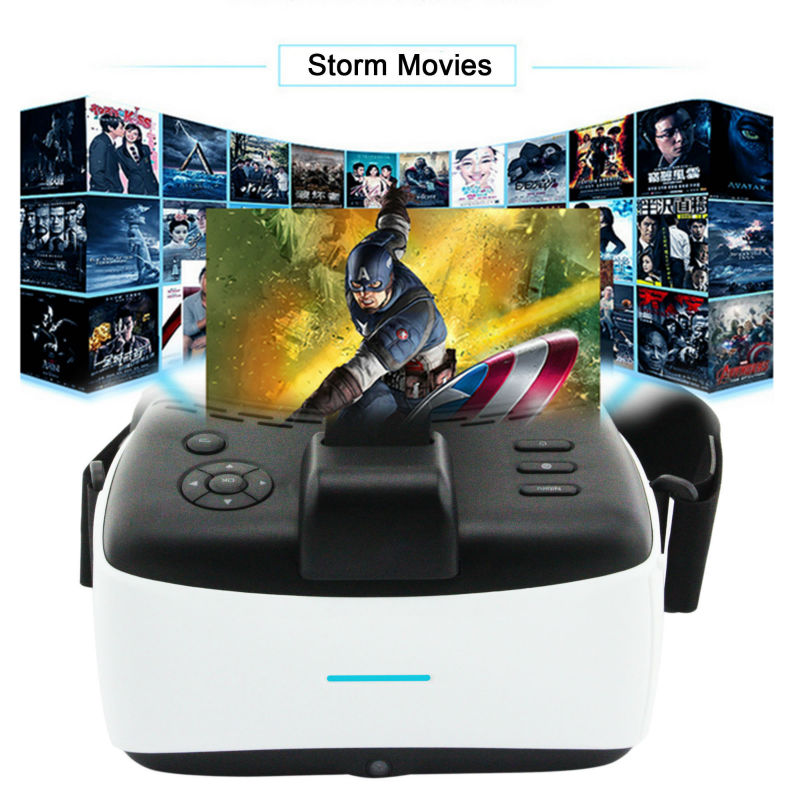 2D/3D Virtual Reality Headset Display VR Intelligent 1080P HD Glasses Suppurting WIFI,Bluetooth,USB Port,TF Card,Many Peripherls