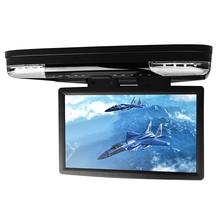 15.6″ Car Roof Mounted DVD Player With 32 Bits Game Flip Down Monitor Ultra-thin Overhead Wide Screen HDMI Port Ceiling HD Video
