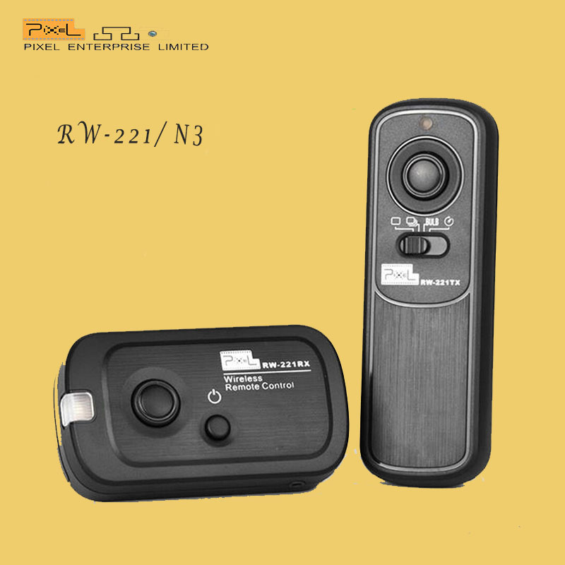 PIXEL RW-221 N3 Wireless camera Shutter Release Remote Timer For CANON EOS 7D/6D/5D Series /1D Series(China (Mainland))