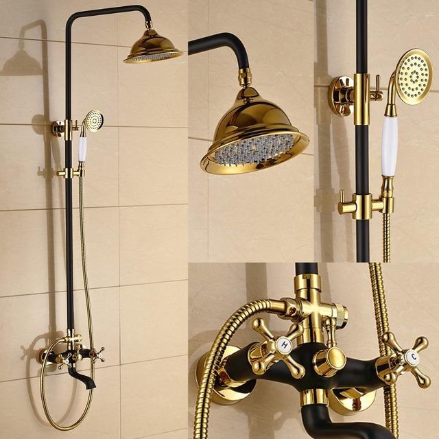 acheter r tro style antique dor blanc noir douche baignoire robinet mitigeur. Black Bedroom Furniture Sets. Home Design Ideas