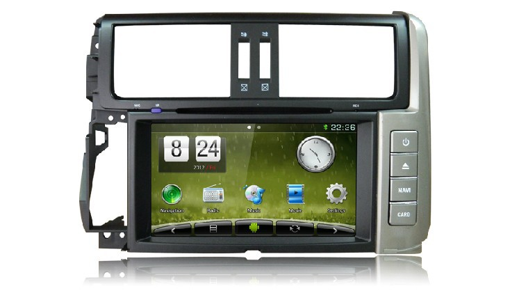Newsmy car navigation gps DT5234S Toyota 2010 Prado Silvery key 4core Android 4.4 8inch 1024*600 canbus head unit radio - HUNAN NEWSMY NAVIGATION TECHNOLOGY CO.,LTD store