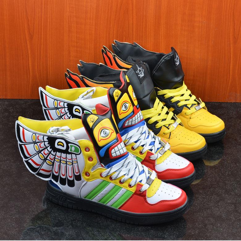 Скейтбординг обувь хип-хоп сникер обувь крылья спортивная обувь для женщины и мужчины размер : 36 - 44