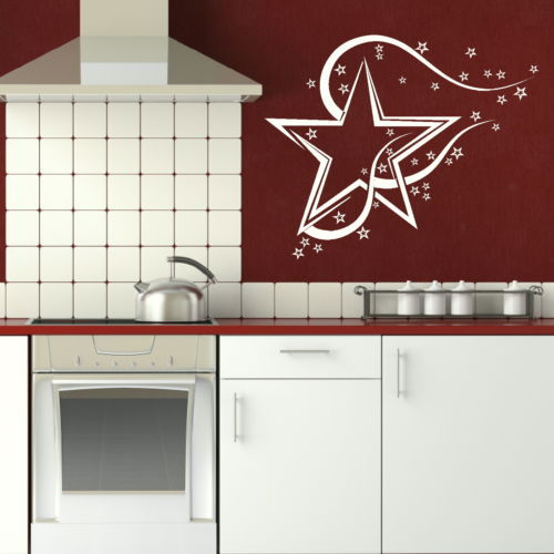 Artistic Star Art Wall Decal Home Decor Removable Vinyl Wall Sticker Wallpaper(China (Mainland))