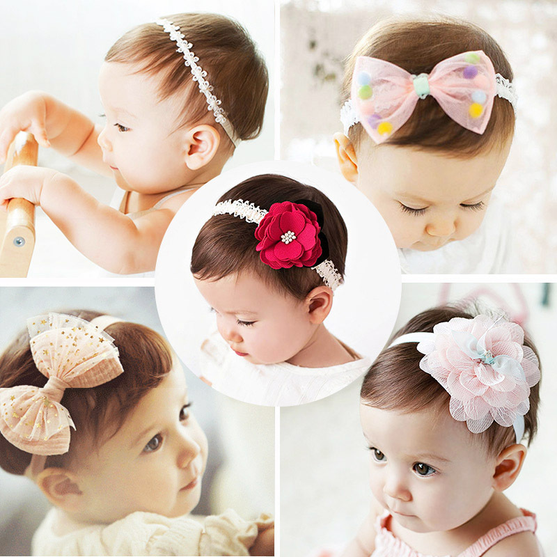 2016 Baby girls headband fabric flowers for headbands hair hoop Children DIY jewelry photographed photos korean hair accessories(China (Mainland))