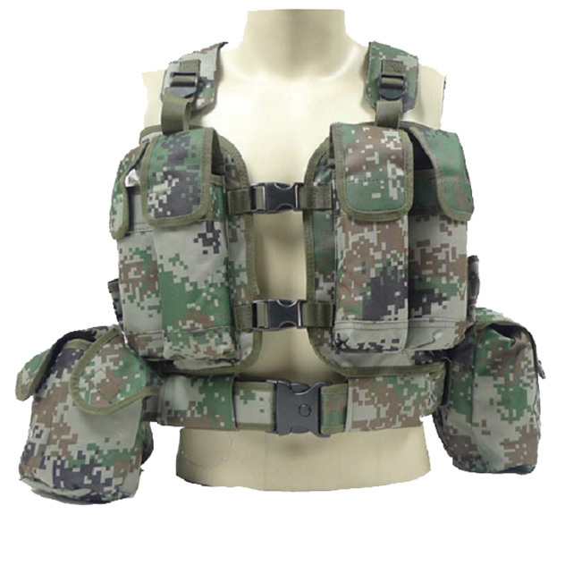 2015 New Men Chest Harness Army Tactical Vest Military Equipment Airsoft Vest Tactical Accessories Combat Molle System CS Vest<br><br>Aliexpress
