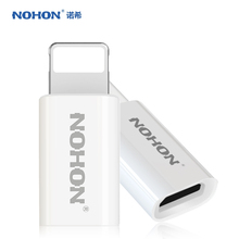 NOHON Micro USB Female to For Lightning 8pin male adapter Converter Micro usb cable charger Adapter for iphone 7 6 6s 5S 5C ipad(China (Mainland))