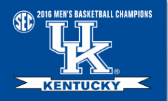 Kentucky UK Wildcats SEC Mens Basketball Champs Flag 3x5ft with gromments(China (Mainland))