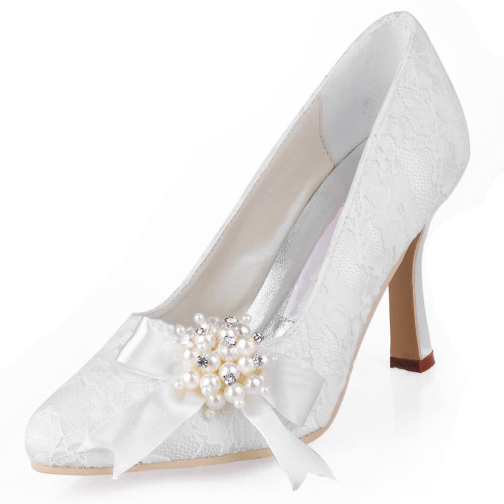 quality 9 colors lace bridal shoes large size 12