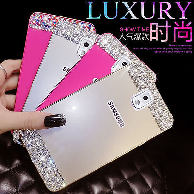 Bling crystal Metal Bumper Frame Case Back Cover Samsung Galaxy note 4 3 N9000 S5 i9600 G900 S4 S6 edge rhinestone case - Shenzhen DY Technology Co., Ltd. store