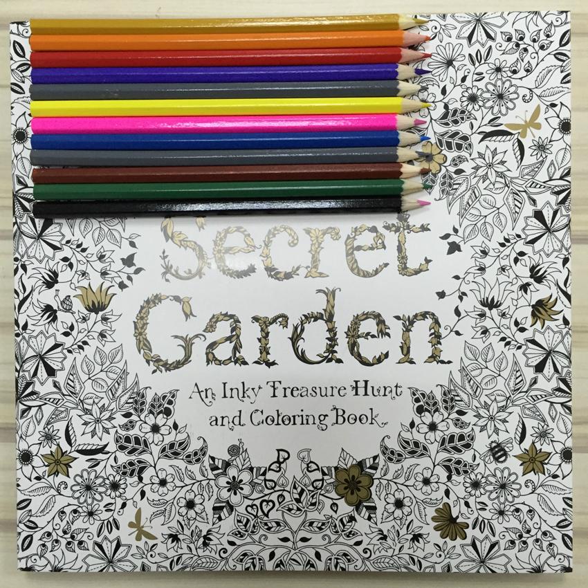 Secret Garden Coloring Book Adult Coloring Book Hand Drawn