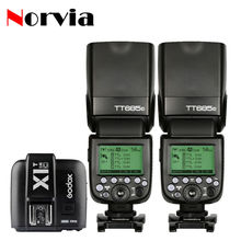 Buy 2pcs Godox TT685 TT685C Speedlite X1T-C Transmitter Trigger TTL Canon Camera Flash 600D 650D 700D 750D 7D 5D 6D 500D 550D for $284.00 in AliExpress store