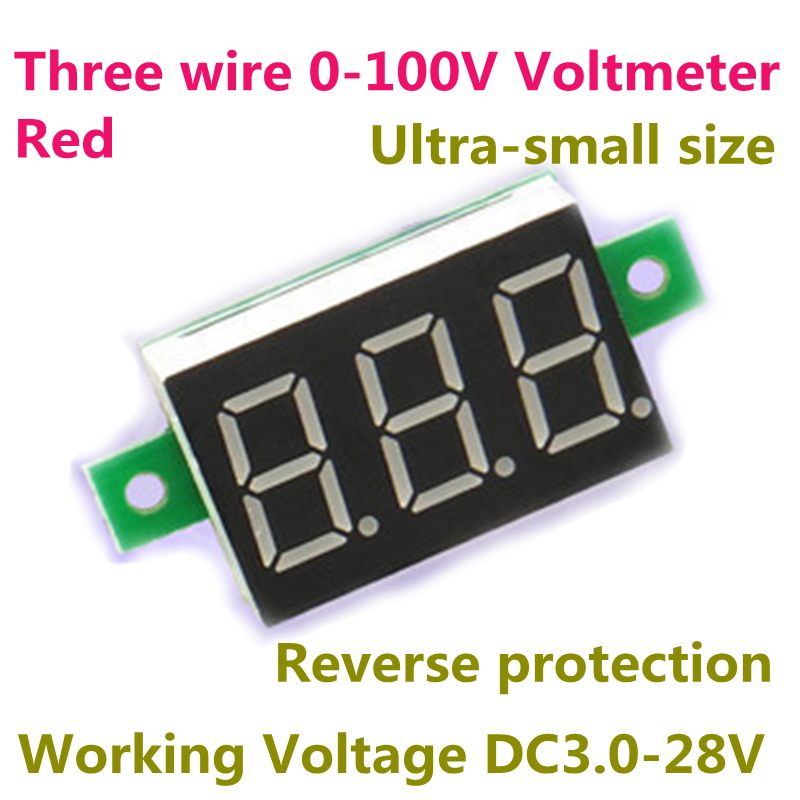 Вольтметр OEM DC 0/100 3 3 30V 20 Digital Voltmeter 0-100V sj 028va 0 3 6 digital dc double show voltmeter amperemeter black