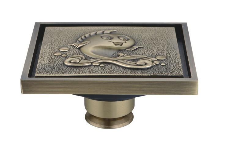 Free shipping antique bronze brass floor drain filter disc Odorless Bathroom Floor Drain DR015<br><br>Aliexpress