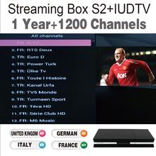 Quad Core Streaming IPTV Box DVB-S2 & 1 Year 1200 Sky French European IPTV Account Live TV Sky TV Box Arabic Europe IPTV Free