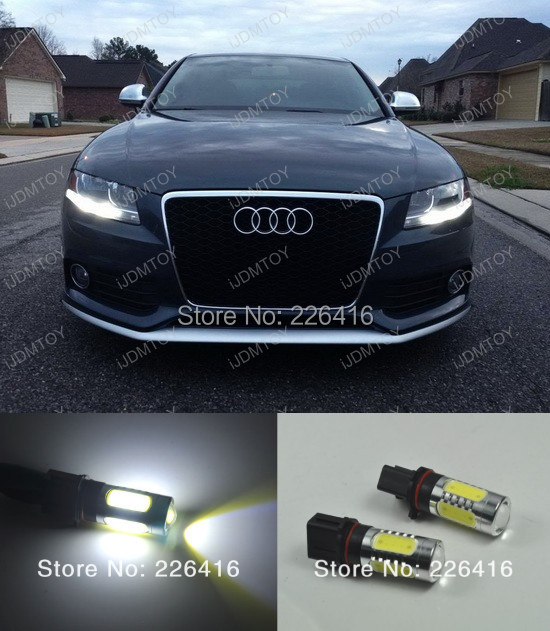 2x Xenon White P13W LED Bulbs Daytime Running Lights DRL 2008-12 Audi B8 model A4 S4 halogen headlight trims - Brilliant marketing auto parts store