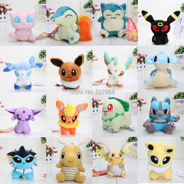 16pcs/set Anime 16 Different style Pokemon Plush Character Soft Toy Stuffed Animal Collectible Doll